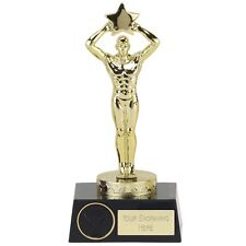 OSCAR STYLE TROPHY PROM NIGHTS OR SCHOOL AWARD AVAILABLE IN GOLD & SILVER