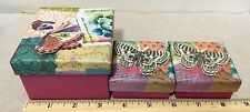 Set of One Paperchase Lazy Days Mini Gift Box and Two Jewelry Boxes, Brand New