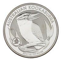 2012 Australia $1 Silver 1oz Kookaburra w/ Dragon Privy (BU Condition) & Capsule
