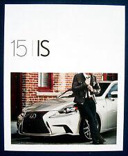 Prospekt brochure 2015 Lexus IS (USA)