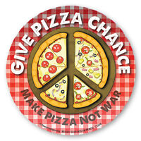 CS204 - Give Pizza Chance - Make Pizza Not War Color Sticker