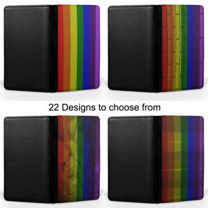 Rainbow LGBT Peace Flag LGBTQ+ Passport Holder Faux Leather Cover Case