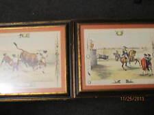 Set of 2 Color Bullfighting Framed Prints by Victor Adam 1957 Sidney Z Lucas