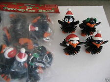 12 Black CHRISTMAS PENGUIN PORCUPINE BALLS 1 Dozen Party Favors