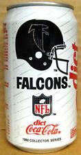DIET COCA-COLA, Coke, Soda CAN, 1992 ATLANTA FALCONS, Football, GEORGIA grade 1+