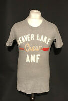 Abercrombie & Fitch Men's T Shirt Grey Beaver Lane Short Sleeve Medium