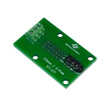 3.5mm Audio Jack 3-Pole Breakout Board to Screw Terminals and Proto Area, ST-217