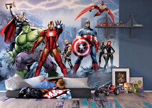 Kinderzimmer Fototapete Wandtapete 358x254cm Comics Superhelden Marvel
