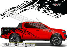 Ford F 150 rear bed tub 018 truck decals stickers graphics grunge mud splatter