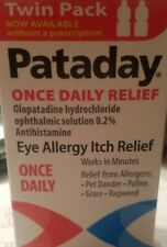 Alcon Pataday Eye Allergy Itch Relief Two 2.5 Ml Bottles