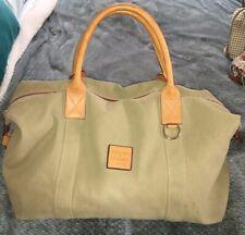 Dooney & Bourke Khaki Olive Canvas Duffle Bag Carryon Travel Bag