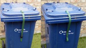 Wheelie Bin Strap or Lock. Keep lid shut in the wind and reduce unwanted rubbish