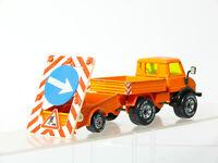 SIKU 2215 Unimog 1620 avec Remorque Maintenance des Routes Véhicule Avec