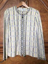 St John Fancy Boucle Reverse Santana Knit Jacket Blazer Sweater 8 Palettes
