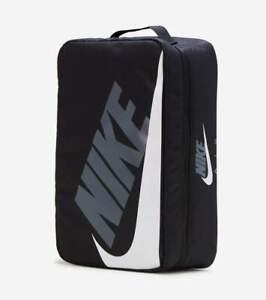 NIKE SHOE BOX ZIP BAG BLACK WHITE CW9266-010 SHOEBOX GRAY NEW NWT ZIPPER