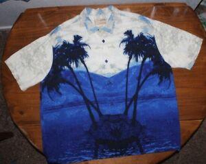 MEN'S   Guess    Tropical  Beach Paradise    button up    SHIRT    X Large