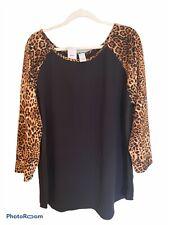 NEW Plus Size Leopard Print Top 3X Tiger King