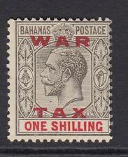 BAHAMAS-1919  1/- Grey-Black & Carmine war tax stamp Sg 104  MOUNTED MINT