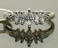 Anniversary Marquise Swarovski Pure Brilliance Zirconia Ring Platinum /925  Sz7