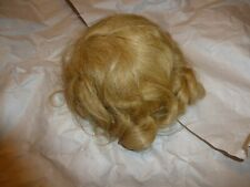 Vintage Human Hair Doll Wig Size 12 Blond