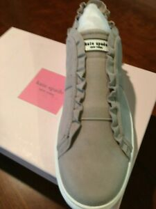 Kate Spade Lance Sneakers Size 9 Med. width NEW IN BOX Gray in color