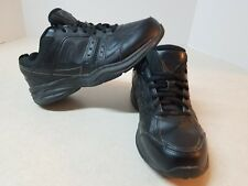 New Balance Mens Shoes Black Leather Athletic Training Size 9