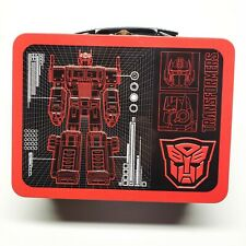Transformers double side embossed Blueprint Image  Large Tin Tote Lunchbox
