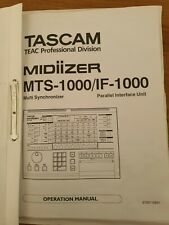 Tascam Midiizer MTS-1000/IF-1000 Operation Manual