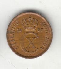 ISLANDE 1 Eyrir 1937 près de date cuivre 156 T par coinmountain