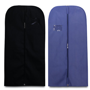 40'' Suit Cover Bags Mens Garment Breathable Travel Zipped Long Dress Covers Bag