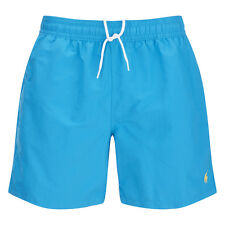 RALPH LAUREN POLO Beach Shorts Blue with Yellow Logo Size XXL BNWT