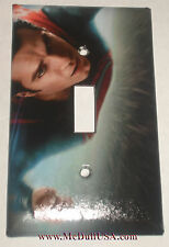 Flying Superman Light Switch and Duplex Outlet Cover Plate
