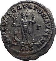 MAXIMINUS II 'DAIA' enemy of Constantine I Ancient Roman Coin  Jupiter  i74152