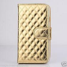 """Metallic Gold Stitched Wallet Case Credit Card Slots & Stand for iPhone 6 4.7"""""""