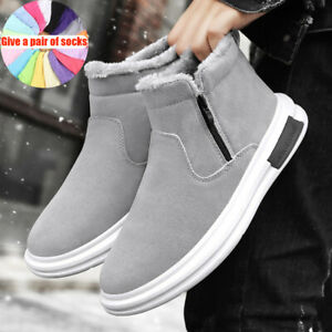 Men's Snow Boots Plus Velvet Thickening To Keep Warm Walking Fitness and Leisure