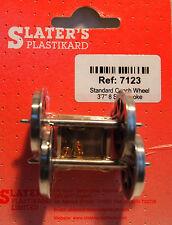 Slaters 7123 1 x Pair Standard Spoked Coach Wheels & Brass Bearings 0 Gauge T48
