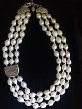 """HTF! Silpada """"Opulence"""" Sterling Silver and Pearl Necklace N2926 STUNNING! Rare"""