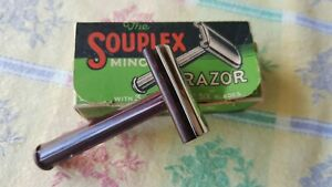 Vintage Souplex Minor Razor Bakelite C:1940's In Original Box