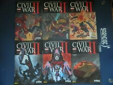 MARVEL COMICS  -   SERIE CIVIL WAR II DE 1 à 6 ( 2016 ) - Les couvertures 1/2