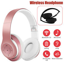 Wireless Headphones Bluetooth Over Ear Foldable Stereo Noise Cancelling Headsets
