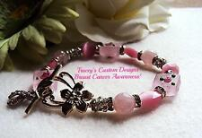 Beautiful BREAST CANCER AWARENESS Bracelet - ONE OF A KIND!