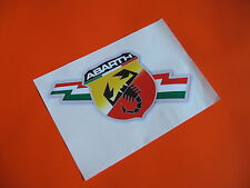 ABARTH avec le drapeau italien Autocollants x2