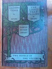 RUDYARD KIPLING - SOLDIERS THREE / THE LIGHT THAT FAILED-IN INGLESE ENGLISH BOOK