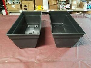 "Dynamic Design Newbury 12"" x 27"" Black Plastic Deck Box Elegant Design- Lot of 2"