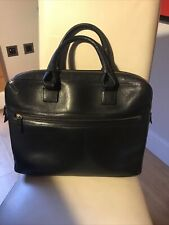 Dunhill Black Leather Single Boston Document Briefcase Laptop Bag