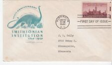 SMITHSONIAN INSTITUTION #943 US FIRST DAY COVER 1946 FARNAM CACHET FDC