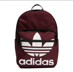 Adidas Originals Trefoil Pocket Backpack Laptop Sleeves Collegiate Burgundy