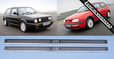 VW Golf (Mk2 & Mk3) GTi, 2 Door Stainless Steel Sill Protectors / Kick plates