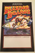 Blazing Boards movie Surf  poster Rick Griffin 1983 Near Mint