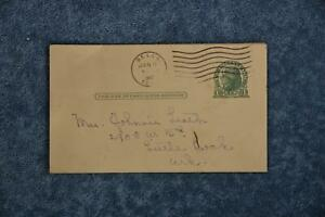 1947 Postcard From TX - to Little Rock, AR